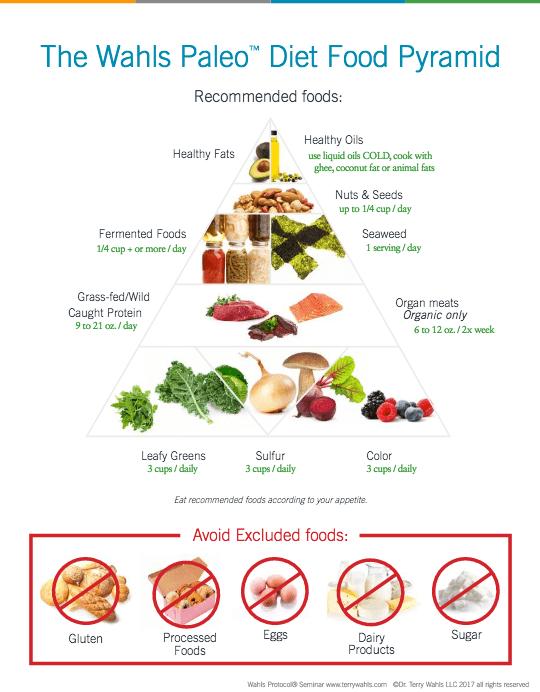 Wahls food pyramid
