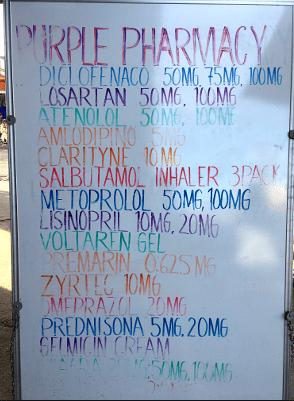 Drug menu