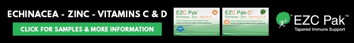 Echinacea Zinc Vitamins C & D EZC Pak - click for samples and more information